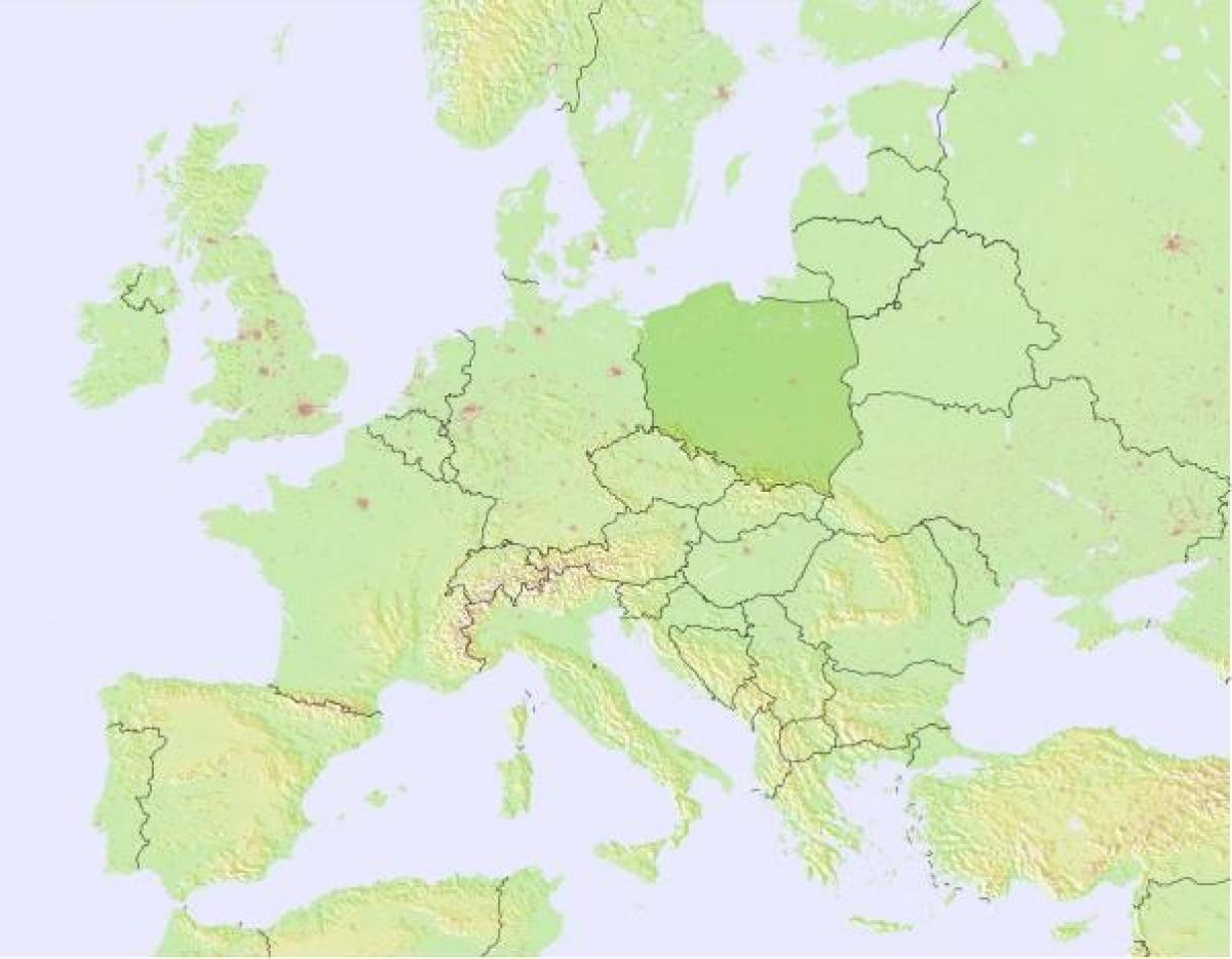 karta polen Väder karta Polen   Karta över Polen väder (Östra Europa   Europa) karta polen